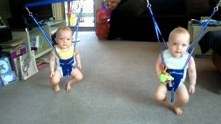 Twin Baby Boys Jumping to Johnny Cash