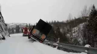 Insane Tow Truck Accident in Northern Norway