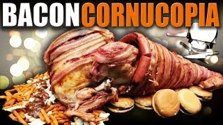 Epic Meal Time Thanksgiving- Bacon Cornucopia