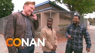 Conan Ice Cube and Kevin Hart- Lyft Car Taxi Ride