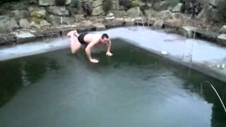 Cannonball into Frozen Pool Epic Fail