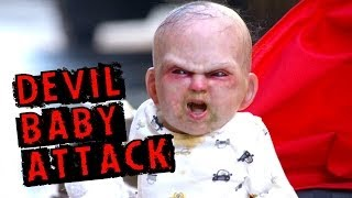 Evil Devil Baby Carriage Scare Prank