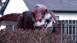 Dinosaur Roaming the Streets Prank