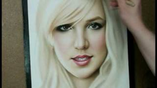 Time Lapse Speed Painting of Britney Spears