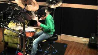 Impressive Drum Solo by 10 Year Old