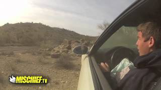 Kid Crashes BMW into Rocks Fail