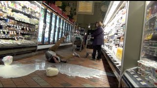Smashing Gallons of Milk in Grocery Store Prank